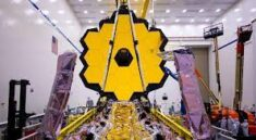 James Webb Space Telescope blooms at the last time on earth